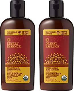 product image for Desert Essence Coconut, Jojoba, and Pure Coffee Oil - 4 Fl Ounce - Pack of 2 - For Body, Face and Scalp - No Oily Residue - Invigorates & Moisturizes Skin - Strengthens Scalp - Refreshing