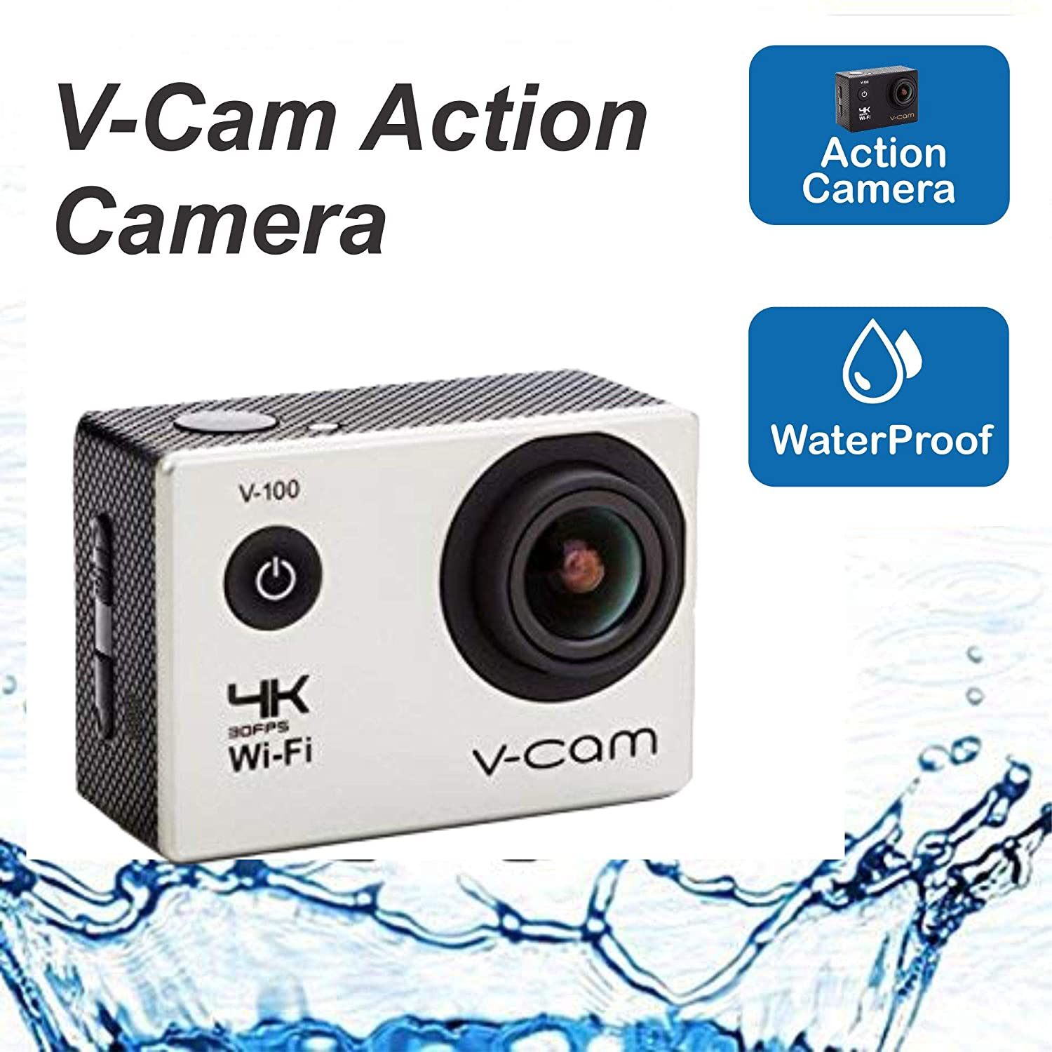 V-CAM V-100 4k Wi-Fi 16MP Action Camera
