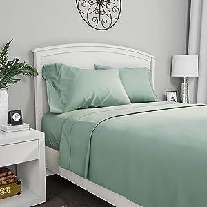 Lavish Home 1200 4-Piece Sheet Set, Queen, Sage
