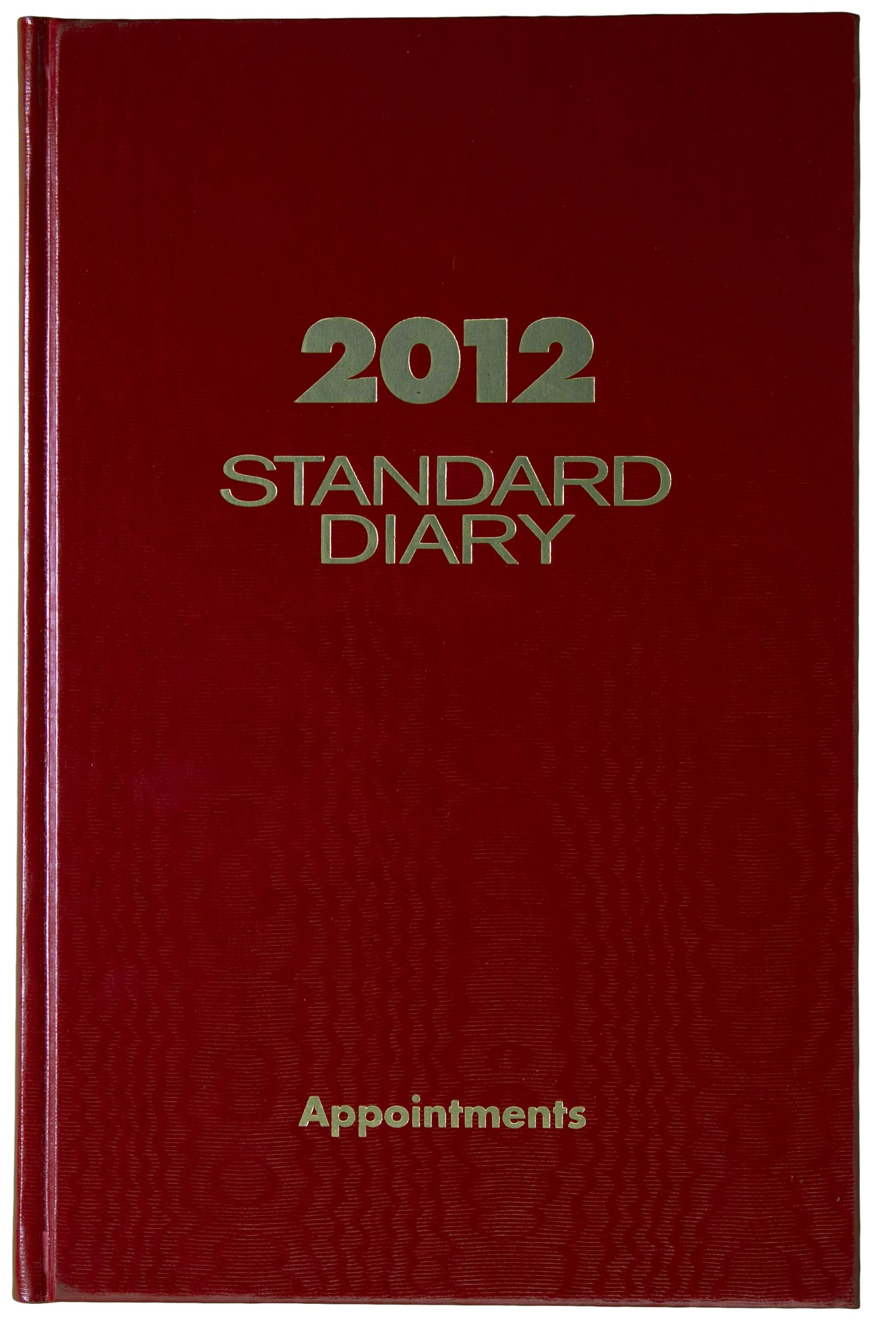 AT-A-GLANCE Standard Diary, Recycled Daily Appointment Book, 5 x 8 Inches, Red, 2012 (SD907-13)
