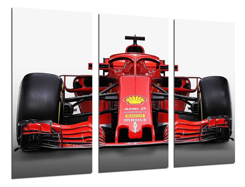 Table Modern fotografico Formula 1Car, Ferrari F1sf71-h, Ferrari F12018, Sebastian Vettel, Kimi Raikkonen, 97x 62cm, Ref. 27109 Cuadros Camara