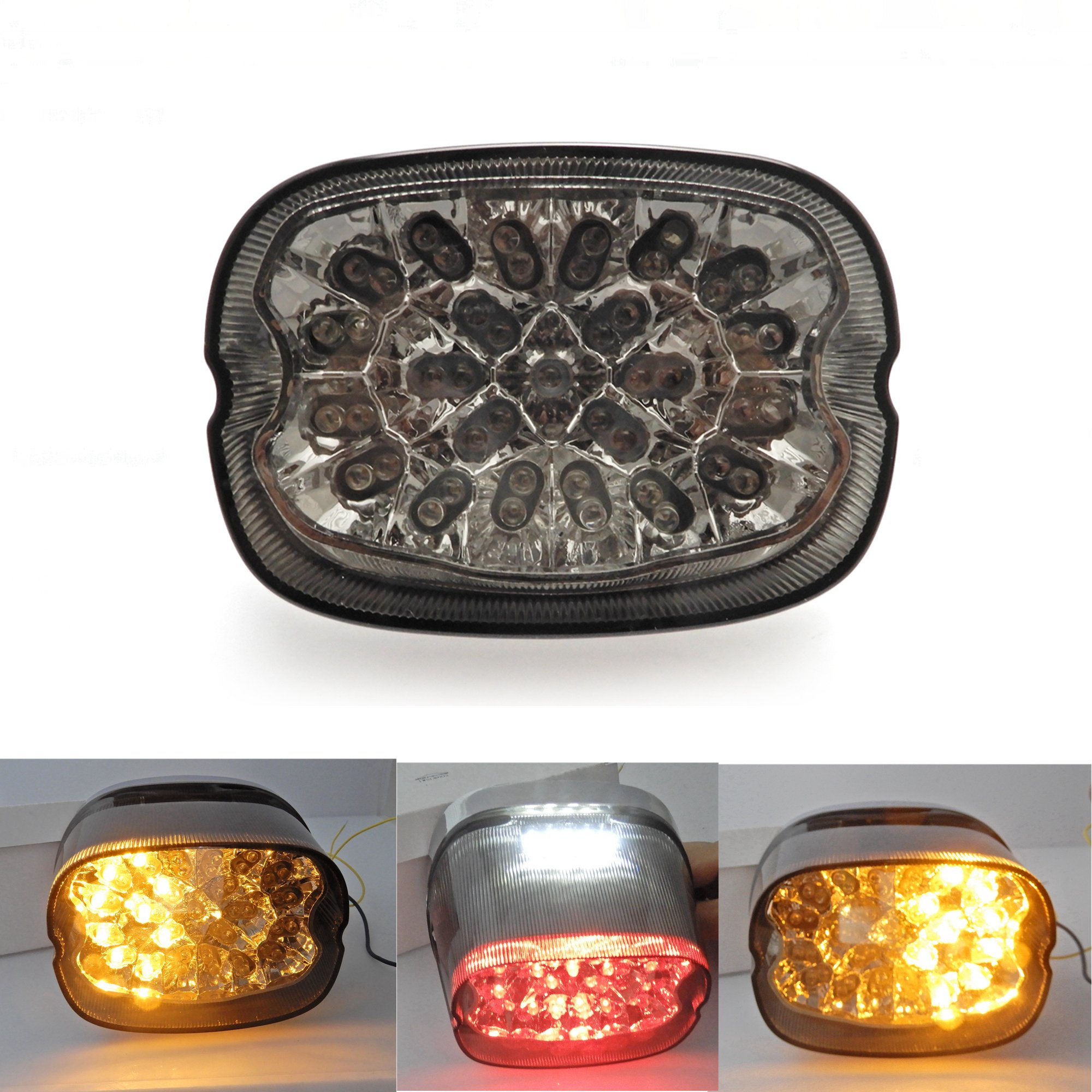 LED Tail Light Turn Signals for Sportster XL FLHR FLHRCI FXD Dyna Road King Electra Glide Brake Park Light Stop Lamp by Issyzone (Image #1)