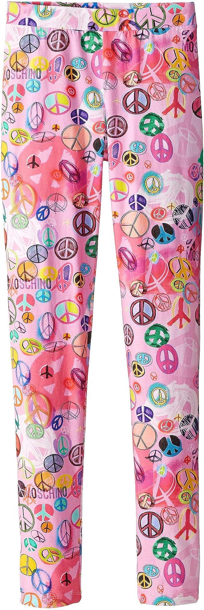 Moschino Kids Girls Peace Sign Leggings Little Kids//Big Kids