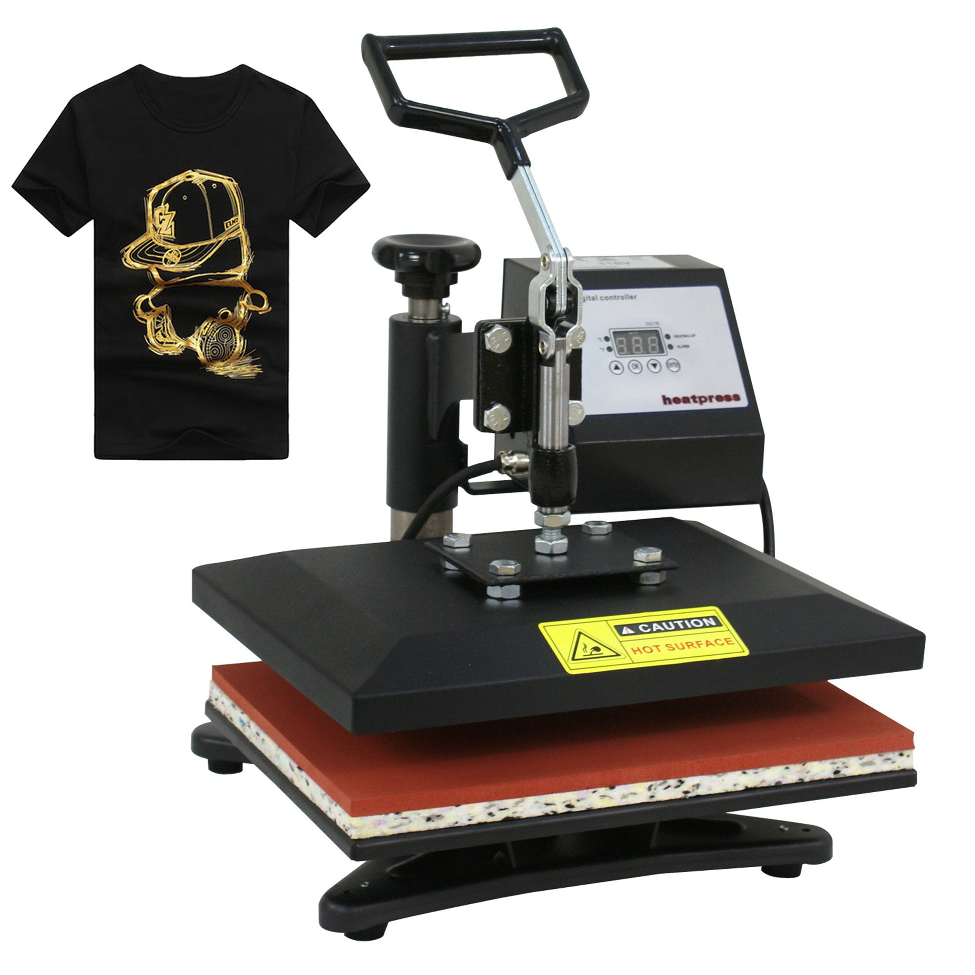 F2C 12'' x 10'' Pro Home 360 Degree Rotation Swing-Away Digital T-Shirt Heat Press Heat Transfer Press Machine by F2C