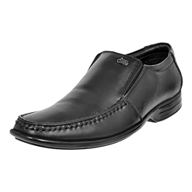 b71d11905920 Allen Cooper Men Black Leather Formal Shoes  Buy Online at Low Prices in  India - Amazon.in