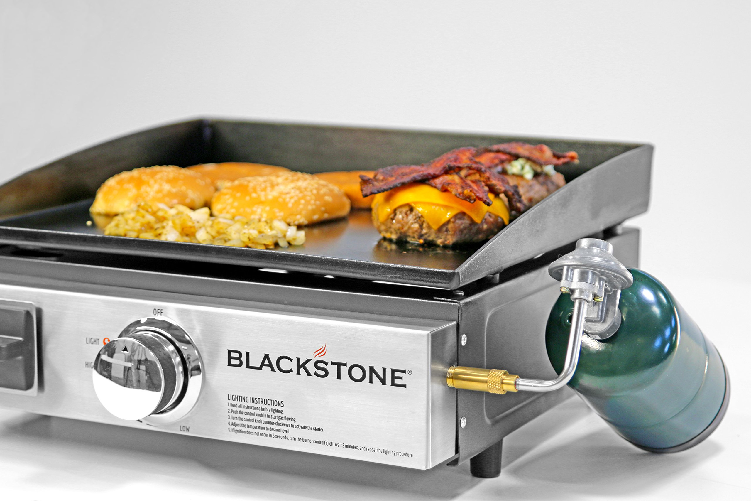 Blackstone Table Top Grill - 17 Inch Portable Gas Griddle - Propane Fueled - For Outdoor Cooking While Camping, Tailgating or Picnicking by Blackstone