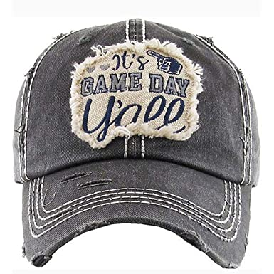 Women s It s Game Day Y all Vintage Baseball Hat Cap (Black) at Amazon  Women s Clothing store  018444fcfc5