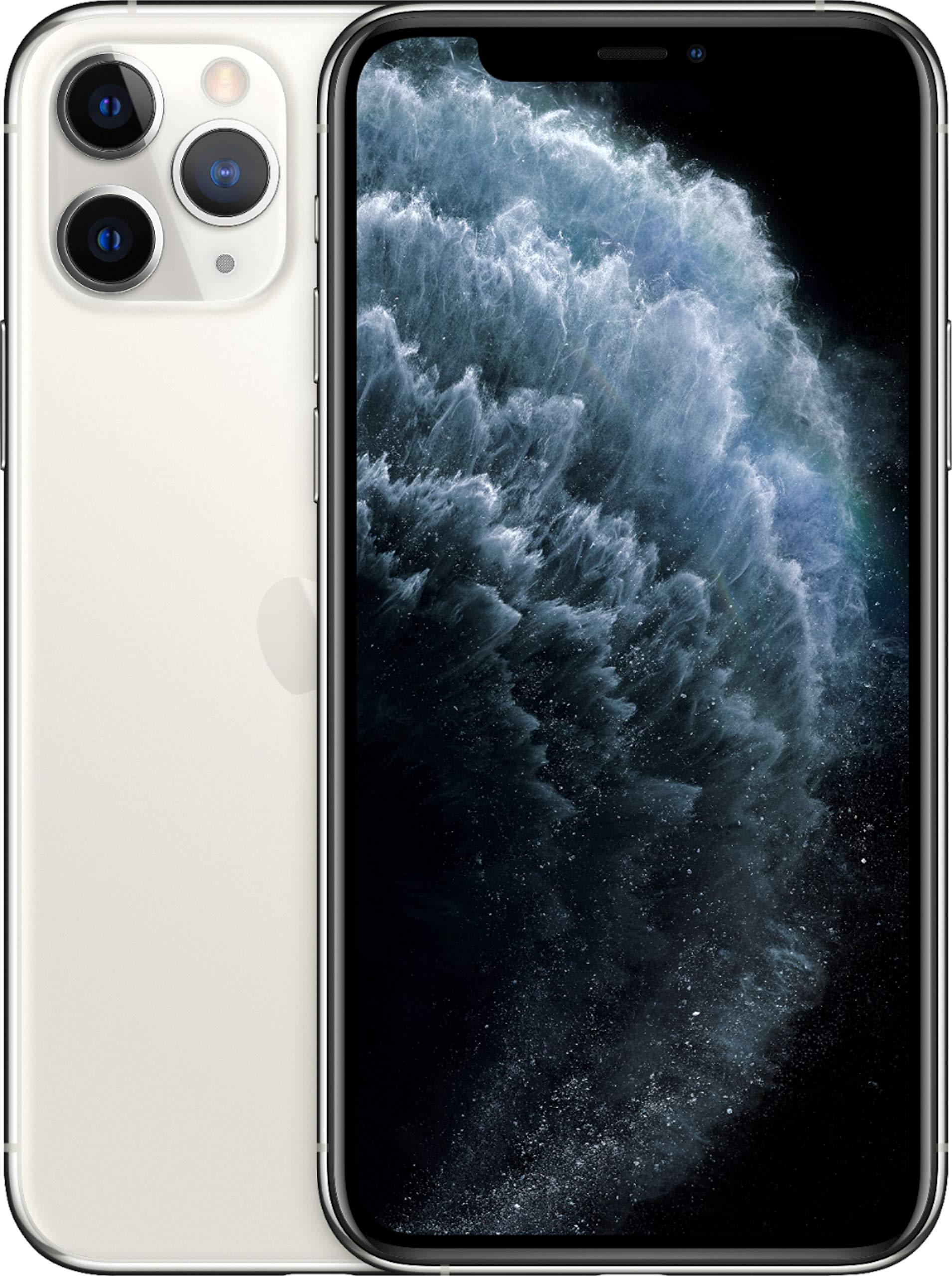 Apple iPhone 11 Pro Max, 64GB, Silver - Fully Unlocked (Renewed)