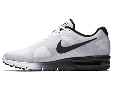 amazon com nike mens air max sequent running shoe white black