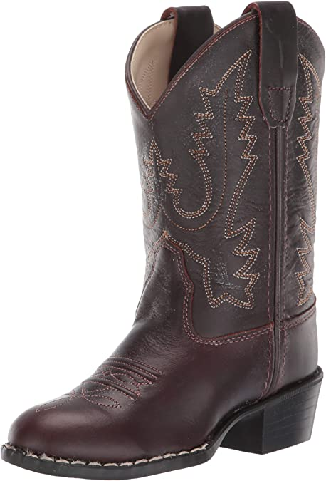 Toddler//Little Kid Old West Kids Boots Unisex Western Boots Light Brown Boot 13.5 Little Kid M