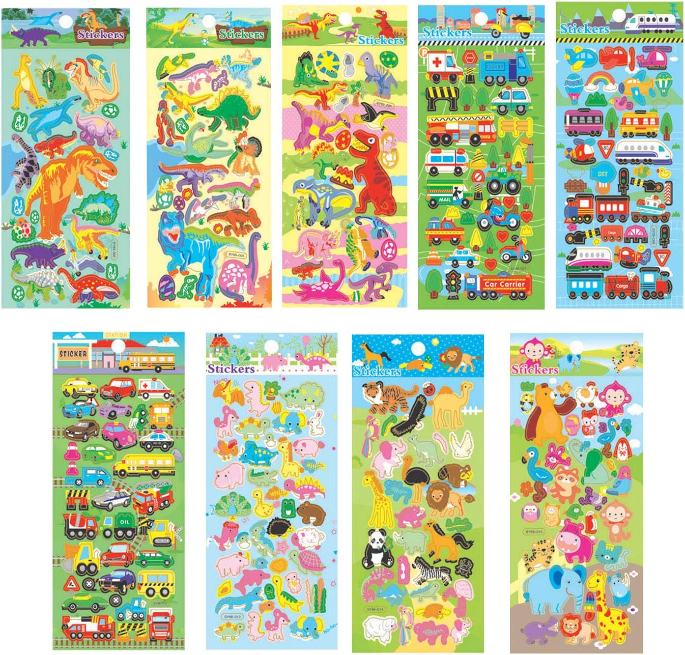 ~200 Styles~ 3D Puffy Stickers Set of 3 Sheets~US Seller
