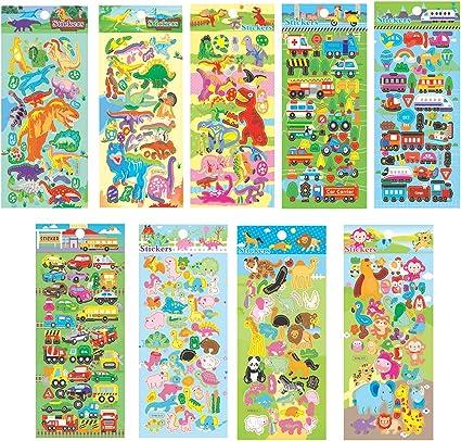 4 sheets children PVC Puffy kids teacher reward stickers wall bear stickers New