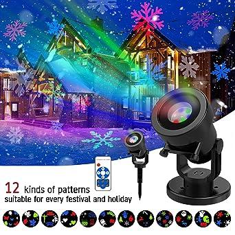 Omew - Proyector de luces LED para fiesta de Navidad, con mando a ...