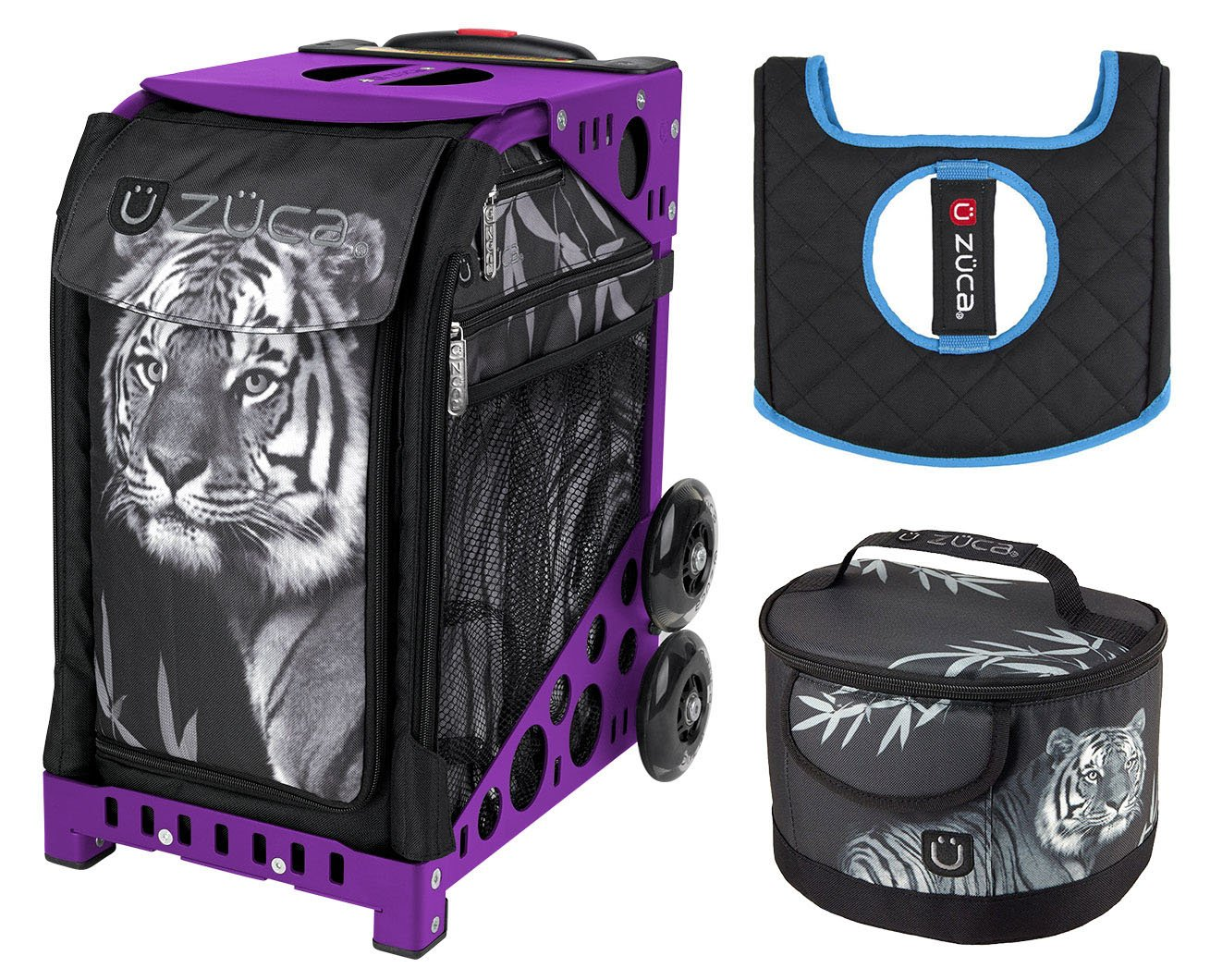 Zuca Sport Bag - Tiger with Lunchbox and Seat Cover (Purple)