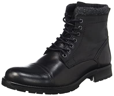 Jones Jack Homme Amazon Amp; Bottes Black Jfwmarly Leather 8aA6qX