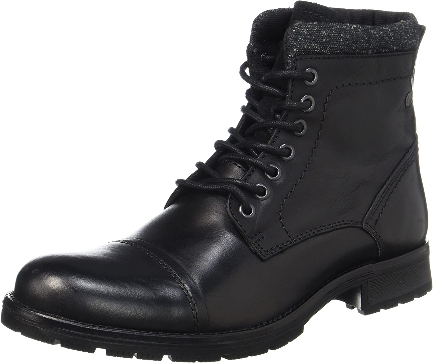 Jack & Jones Jfwmarly Leather Black, Botas Clasicas para Hombre