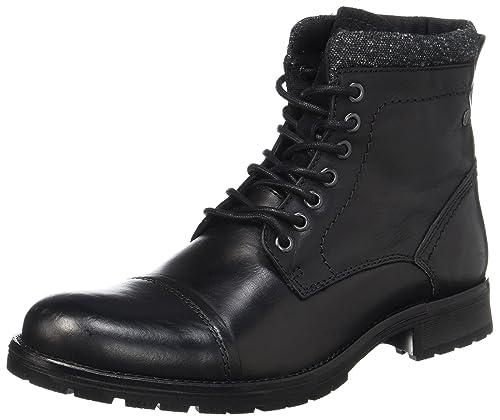 6d468d26014 Jack   Jones Men s Jfwmarly Leather Black Classic Boots  Amazon.co ...