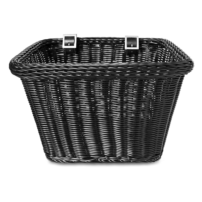 Colorbasket 00702 Adult Front Handlebar Rectangle Bike Basket, Black Everware International EV00702