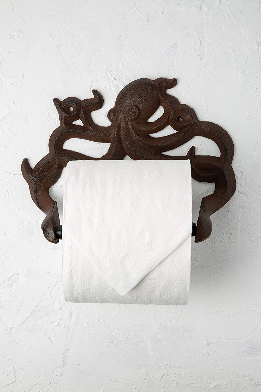Cast Iron Octopus Toilet Paper Roll Holder