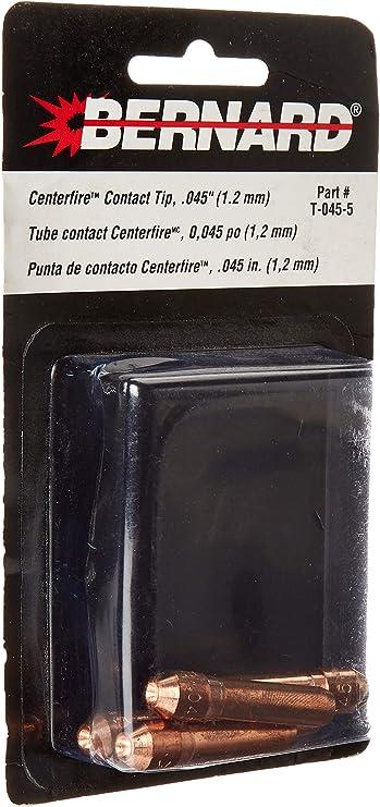 "Bernard T-035 .035/"" Centerfire Mig Contact Tips Pk25"