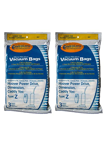 3 Pack Paper Bag Replacement Vacuum Bags f// Hoover TurboPower 4500 Vacuums