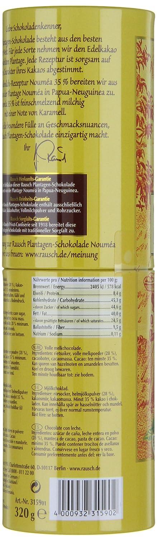 Amazon.com : Rausch Plantagen-Schokolade Nouméa Edel-Vollmilch Schokolade, Dose mit 8 Sticks, Kakao: 35 %, 1er Pack (1 x 320 g) : Chocolate Candy : Grocery ...