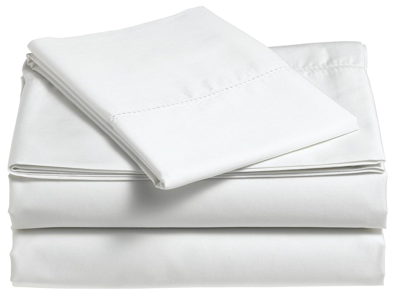 Pinzon 400-Thread-Count Egyptian Cotton Sateen Hemstitch Sheet Set - Cal King, Dusty Blue SS-SMBL-CK