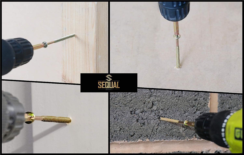 SEQUAL/® Vis /à bois multi-usages haute performance pour utilisation professionnelle et domestique avec embout gratuit