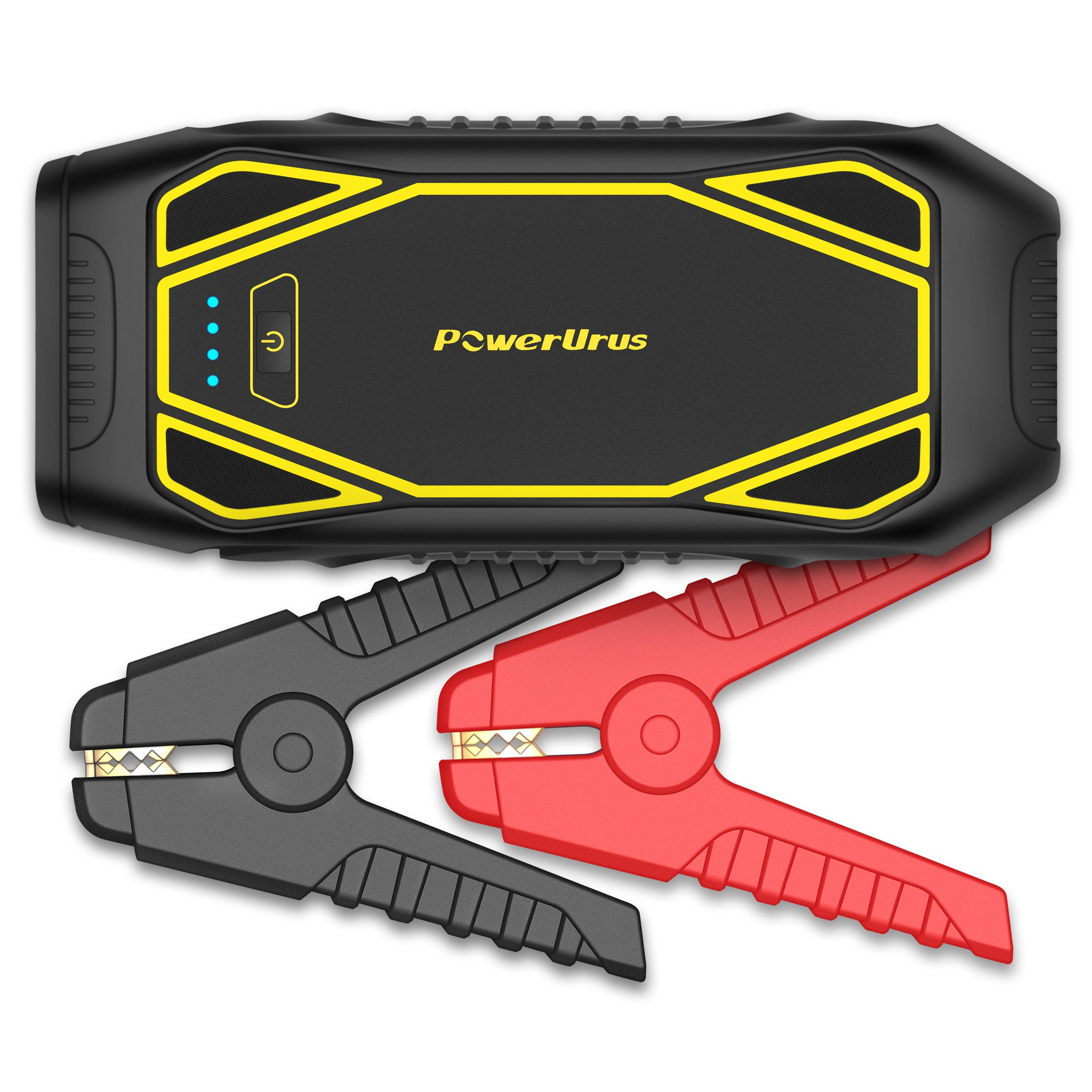 PowerUrus IP66 1600A Peak Portable Car Jump Starter (Up to 10L Gas, 6.5L Diesel) Quick Charge 3.0 Power Bank 12V DC Power Source