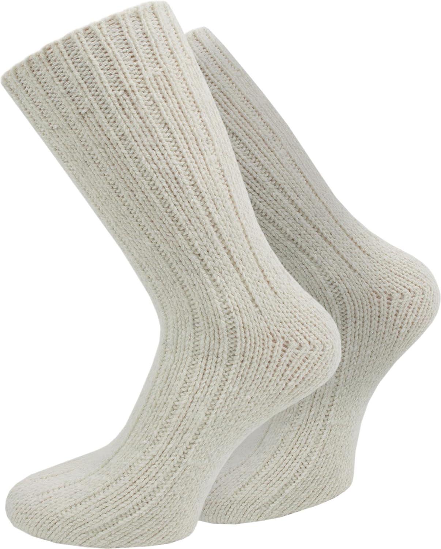 4 Paar Warme Dicke Schafwollsocken wie handgestrickt / waschmaschienenfest