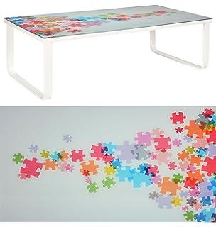 Ts Ideen Glastisch Beistelltisch Couchtisch Mit Design PUZZLE 6 Mm Kaffee Tisch 104