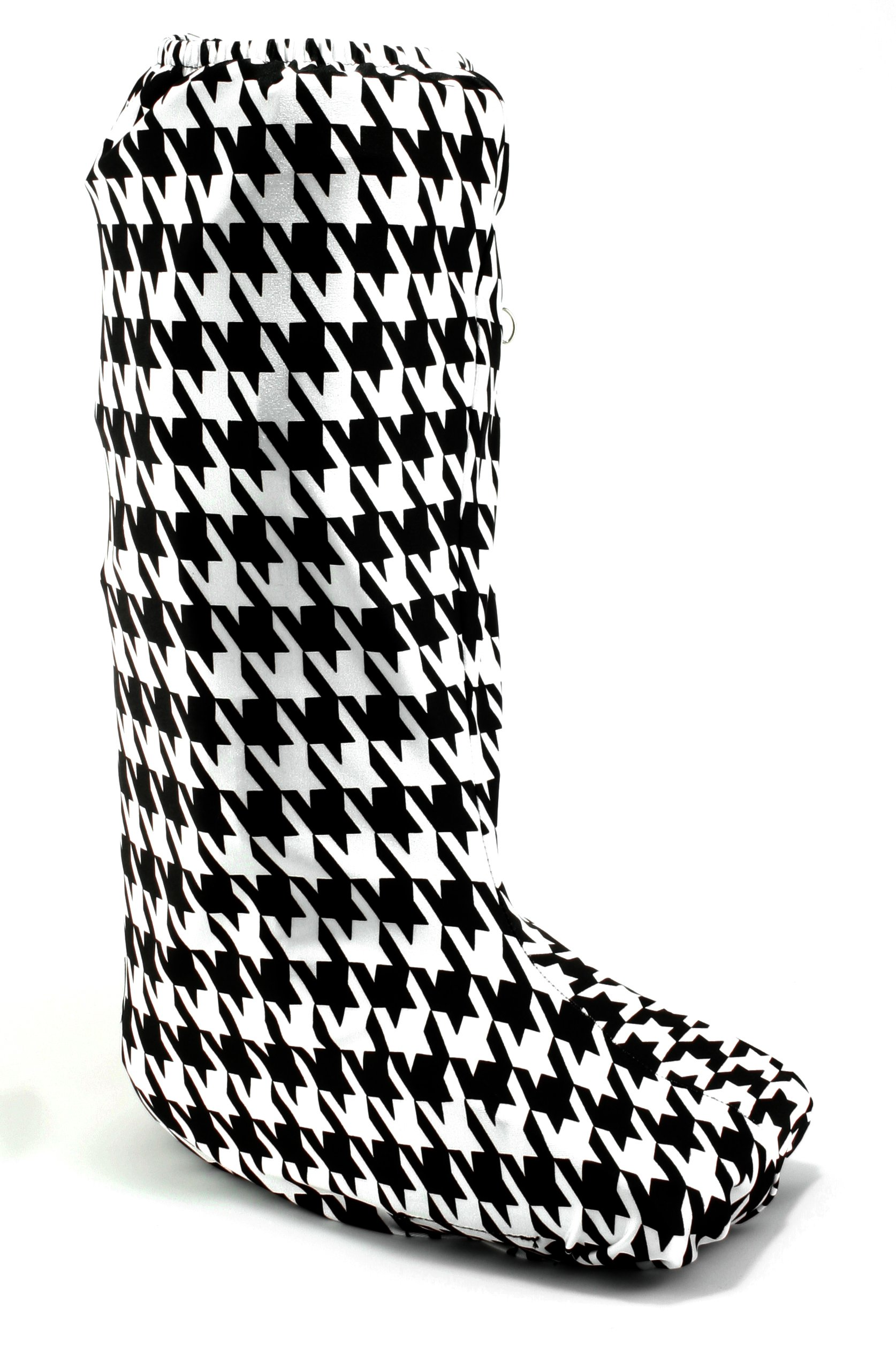 My Recovers Walking Boot Cover for Fracture Boot, Fashion Cover in Black-White Houndstooth, Size Extra Small, Tall Boot, Made in USA, Orthopedic Products Accessories