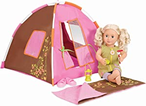 "Our Generation Dolls Polka Dot Doll Camping Set, 18"", Brown (BD37050Z)"