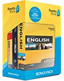 Rosetta Stone Learn English Bonus Pack Bundle  Lifetime Online Access + Grammar Guide + Dictionary Book Set  PC/Mac…
