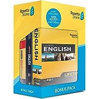 Learn English: Rosetta Stone Bonus Pack ( Online Access + Book Set)