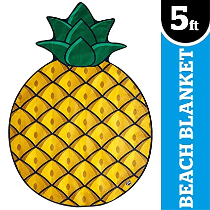 397f6066bc8 BigMouth Inc. Gigantic Pineapple Beach Blanket – Fun, 5' Wide Beach Blanket  Perfect for the Beach, Pool, Lake and More, Machine Washable