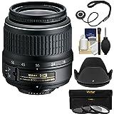 Nikon 18-55mm f/3.5-5.6G II DX AF-S ED Zoom-Nikkor Lens with 3 Filters + Hood Kit for D3200, D3300, D5300, D5500, D7100, D7200 Cameras
