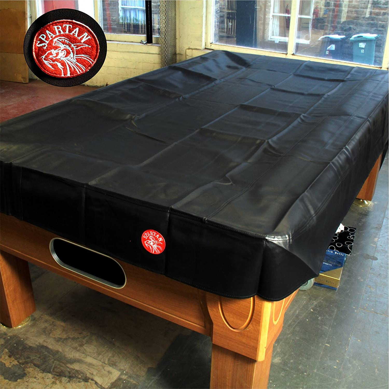 Spartan Heavy Duty wasserabweisend 9 ft American Pool Table Cover – 9 ft Schwarz jonny 8 ball