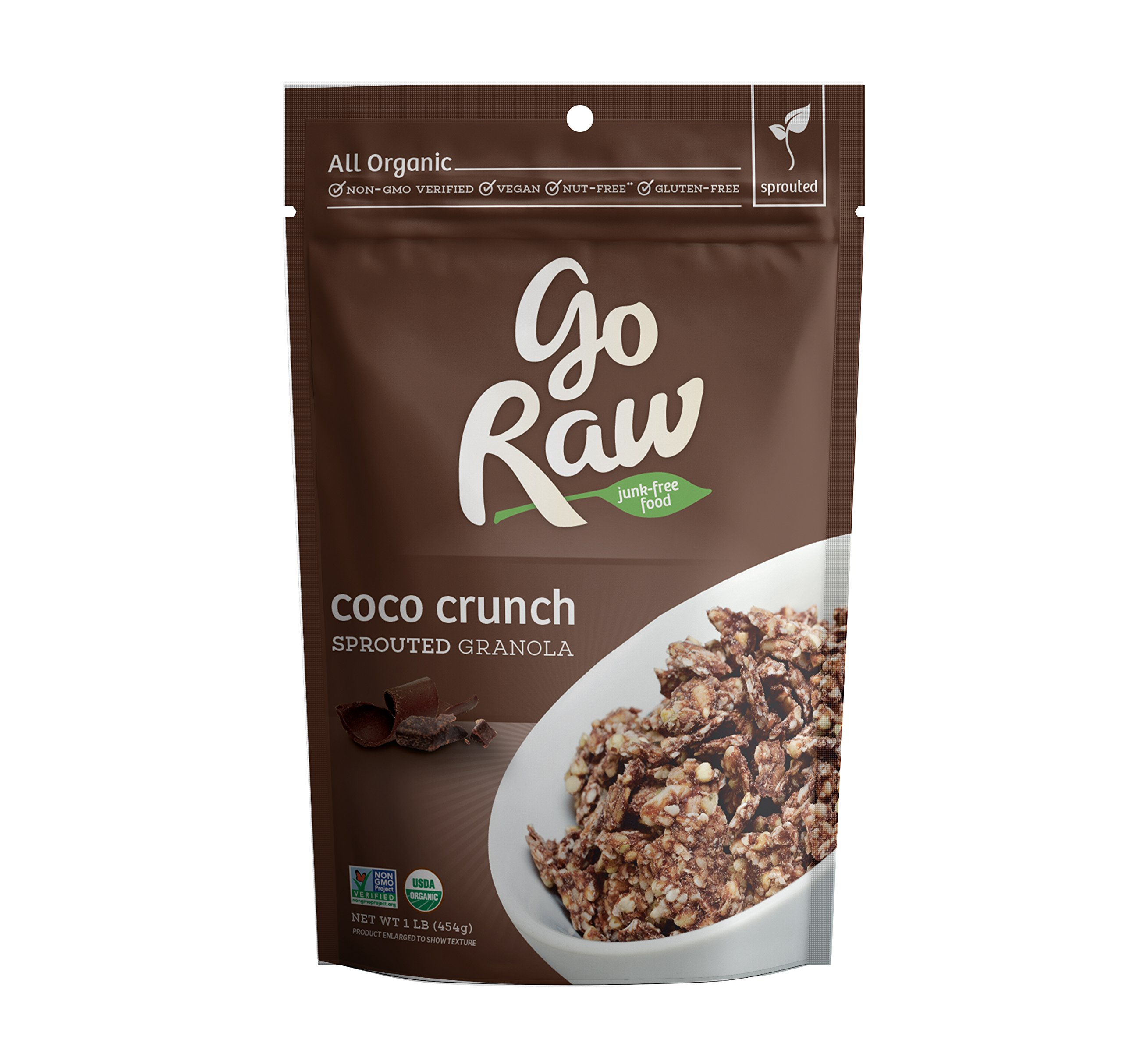 Go Raw 100% Organic, Chocolate Granola Cereal,. 16-Ounce Bags (Pack of 2)