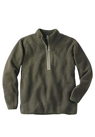 d12ac7b84 KingSize Men's Big & Tall Quarter Zip-Front Sherpa Jacket at Amazon Men's  Clothing store: