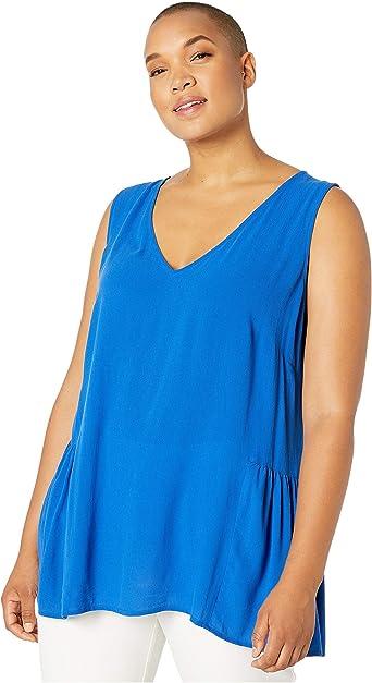 Junarose Womens Plus Size Sleeveless Ruffle Top