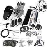 AURELIO TECH 80cc 2-Stroke Motor Engine Kit Gas for Motorized Bicycle Bike Silver