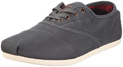 TOMS Mens Cordones Shoe Ash Waxed Twill Size 7 D(M) US