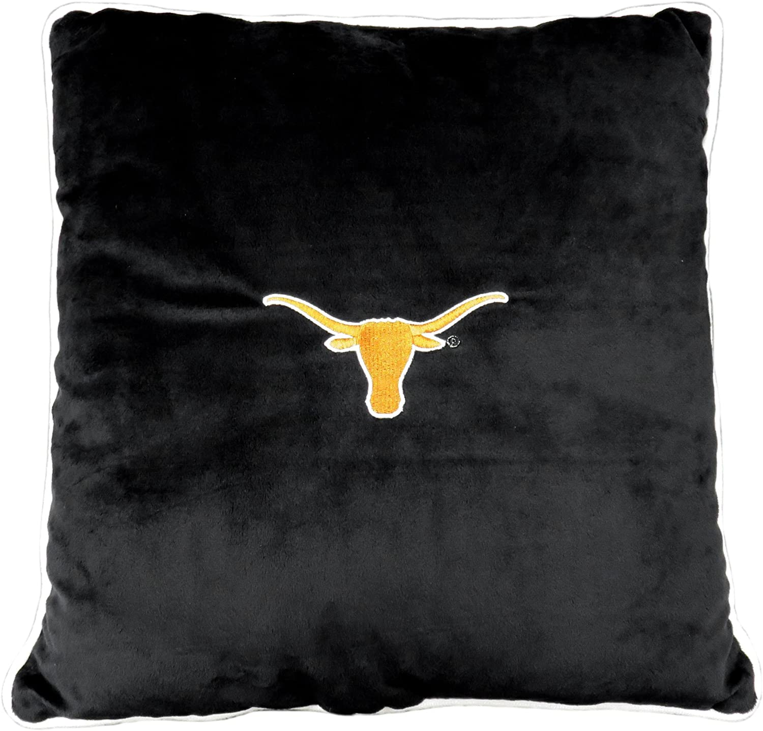 Pets First Collegiate Pet Accessories, Dog Pillow, Texas Longhorns, 16 x 16 x 3 inches