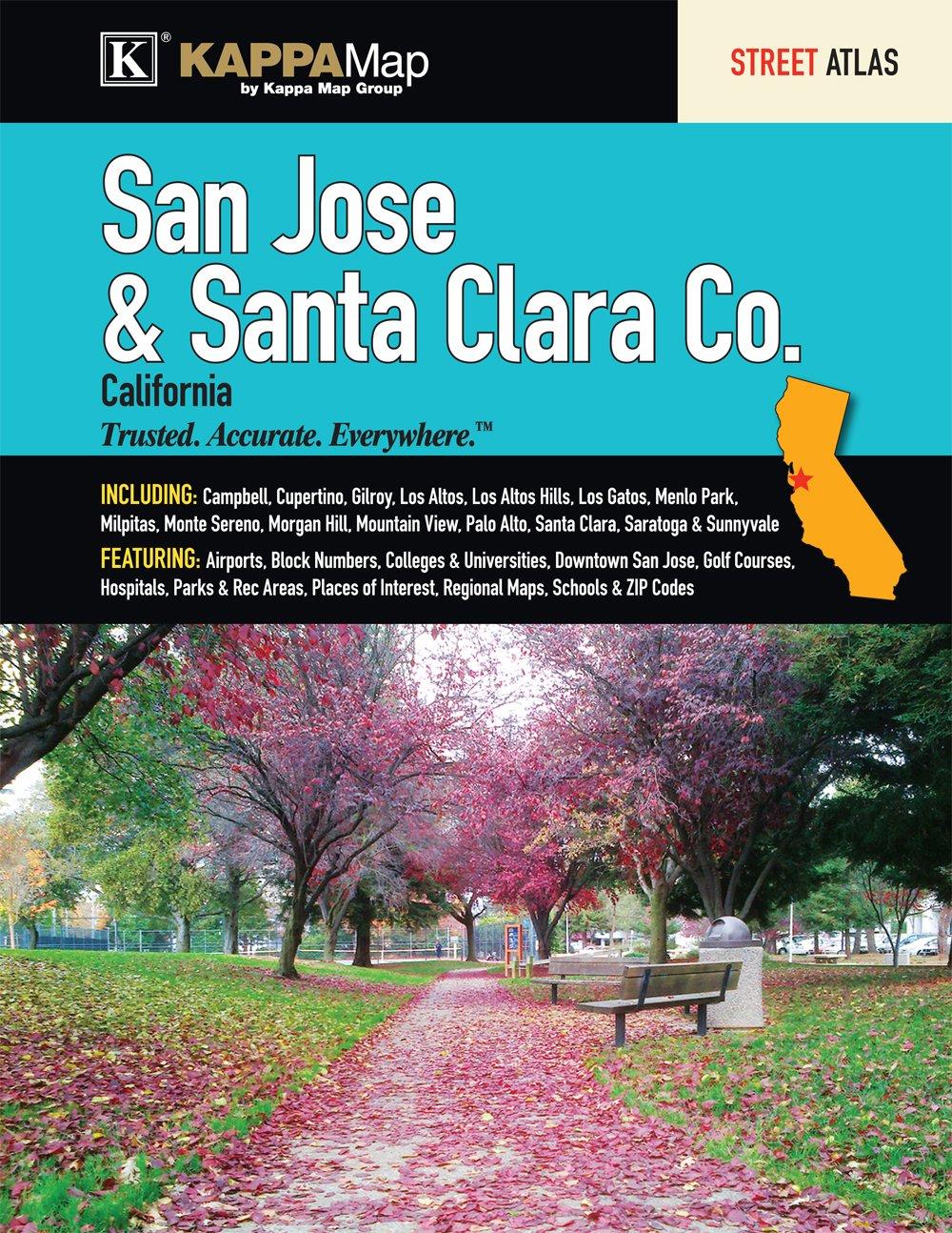 San Jose Santa Clara CA Street Atlas Kappa Map Group