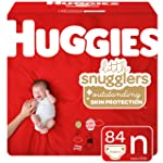 Huggies Little Snugglers Baby Diapers, Size Newborn, 84 Count
