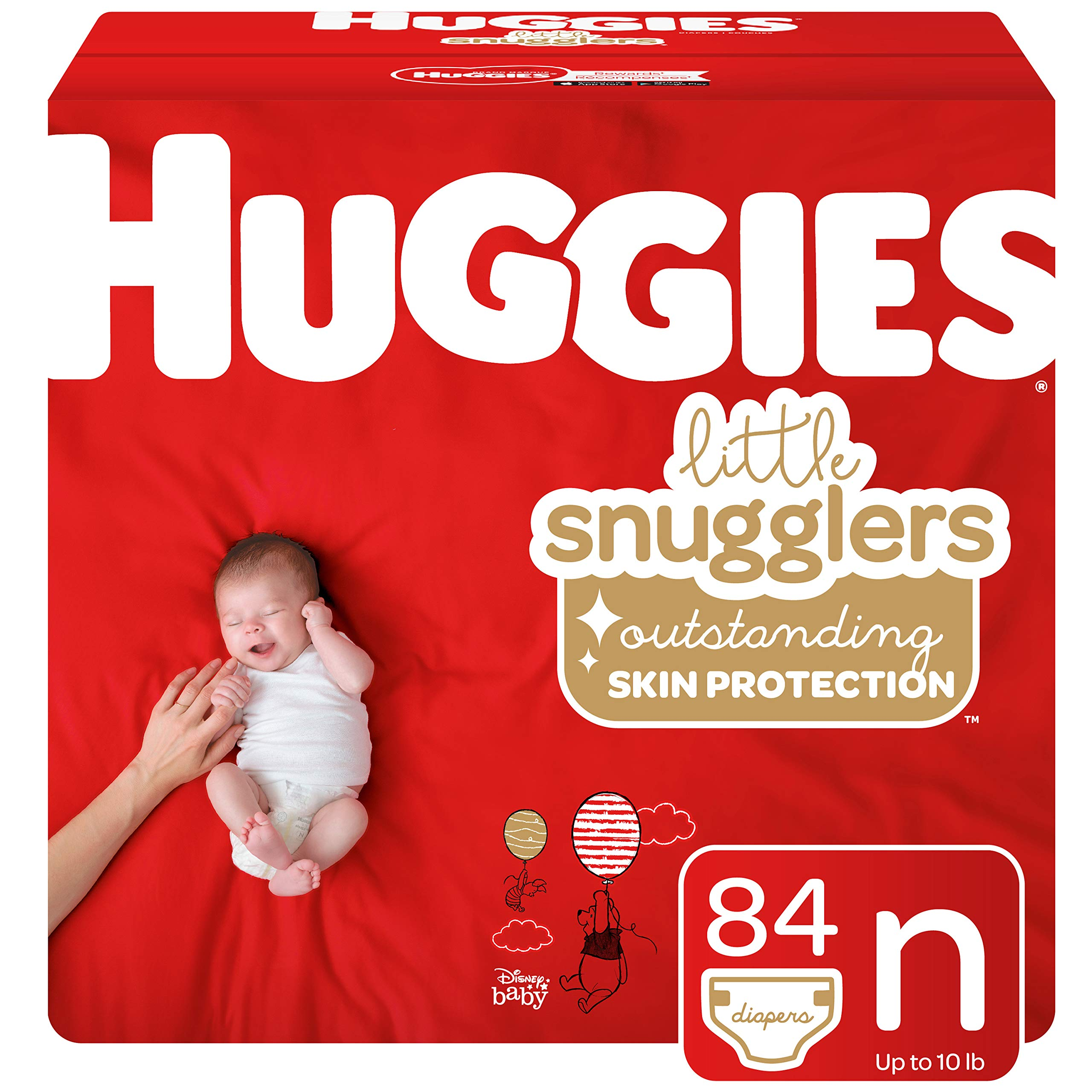 Huggies Little Snugglers Baby Diapers, Size Newborn, 84 Count (Packaging May Vary) by Huggies (Image #1)