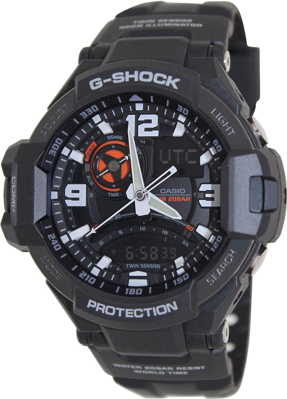 ac5081f88 Amazon.com  Casio G-Shock GA-1000-1A Aviation Series Men s Luxury Watch -  Black   One Size  Casio  Watches