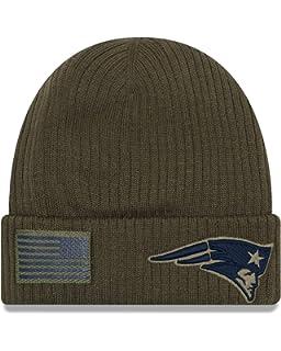 47ffeba2ff9 New Era New England Patriots Beanie On Field 2018 Salute to Service Knit  Green - One