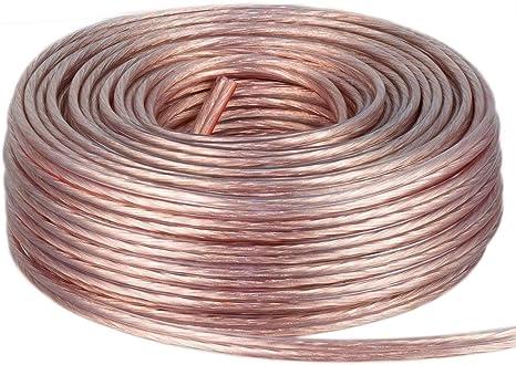100/% Cca Cobre Altavoz Audio Cable 100 Metros 2x1,5 mm ²
